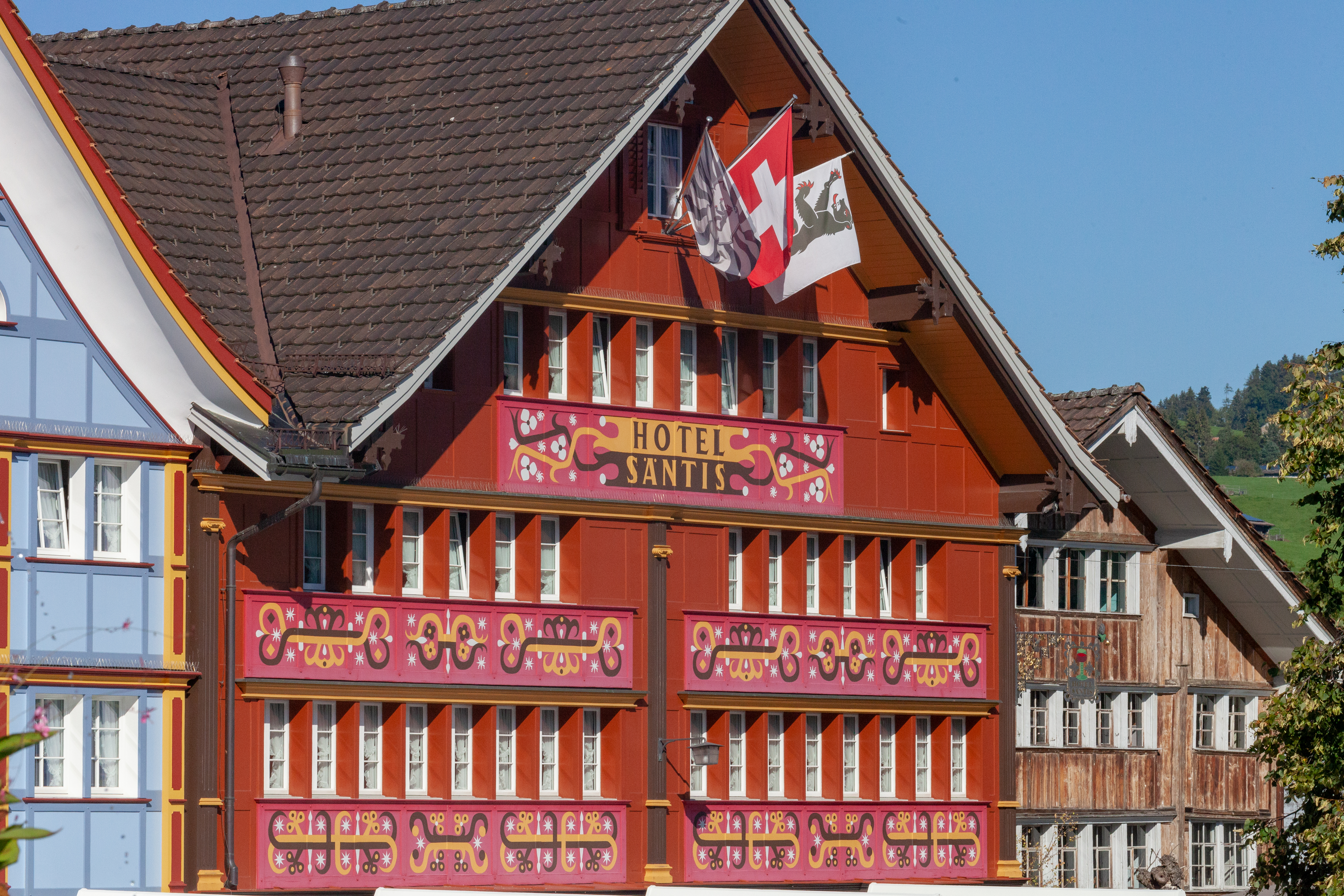 City of Appenzell, house facades