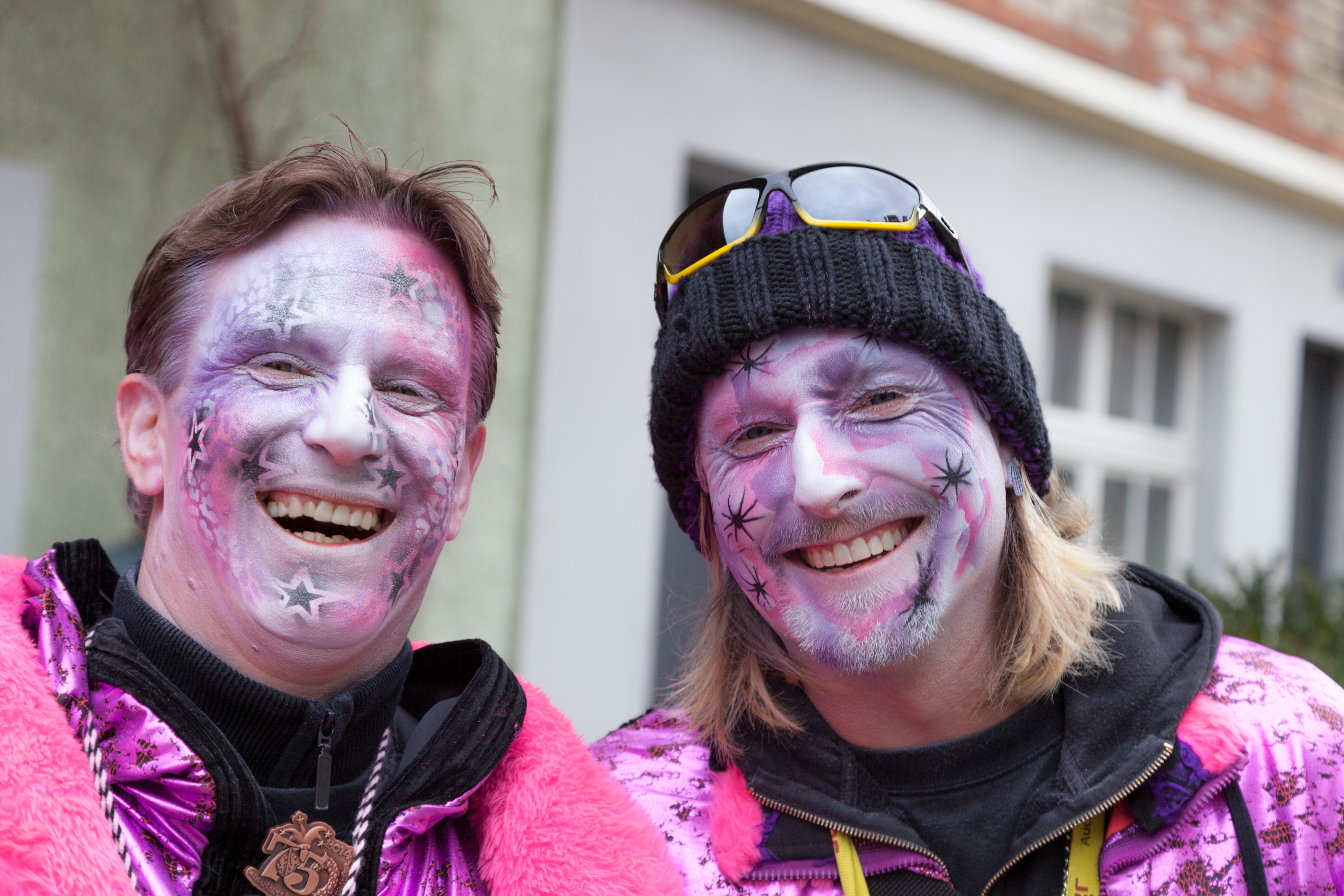 Colourful happy faces at the Winterthur Carnaval